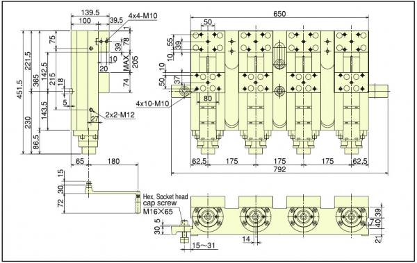 MH125N-4 Dimensions