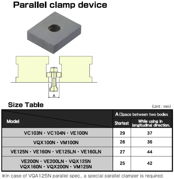 Optional Accessories-Parallel Clamp Device Table